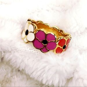 Coach Poppy Gold Flower Ring Size 8.5